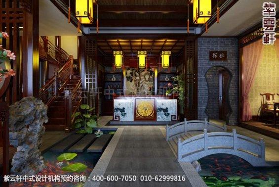 茶楼接待台中式装修效果图_古典茶楼中式设计案例