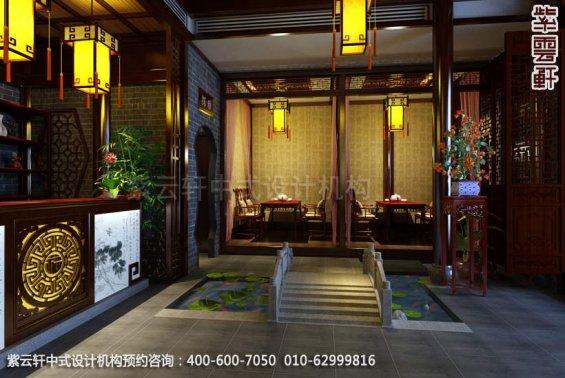茶楼接待台1中式装修效果图_古典茶楼中式设计案例