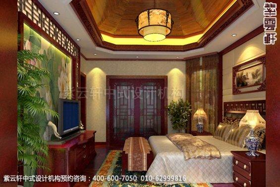 别墅主卧中式装修效果图_别墅现代中式设计案例