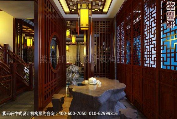 茶楼茶室中式装修效果图_古典茶楼中式设计案例