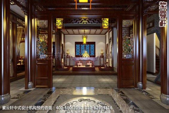 茶楼一层大厅中式装修效果图_古典茶楼中式设计案例