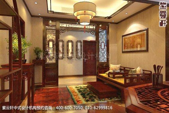 别墅茶室中式装修效果图_淮安现代别墅中式设计案例