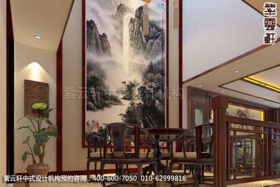 别墅餐厅中式装修效果图_上海现代别墅中式设计案例