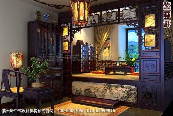 住宅茶室中式装修效果图_简约复式住宅中式设计案例