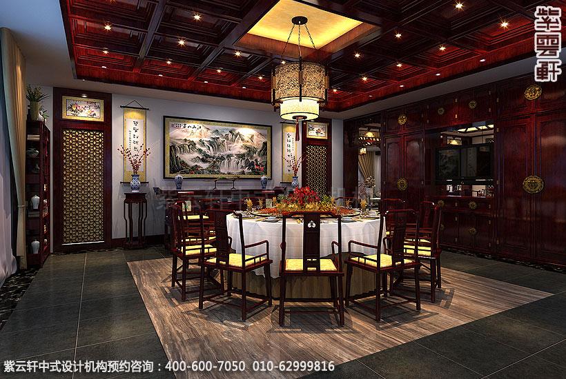 辽宁营口古典中式装修私人会所效果图,餐厅包间中式装修效果图高清图片