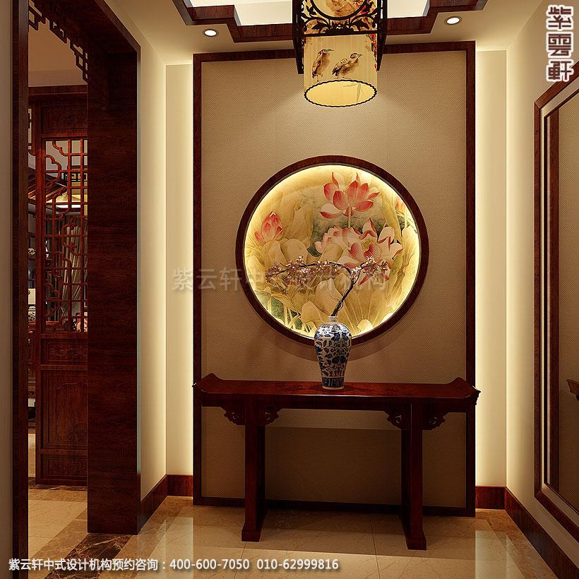 精品住宅-北京方庄复式楼-门厅中式装修效果图