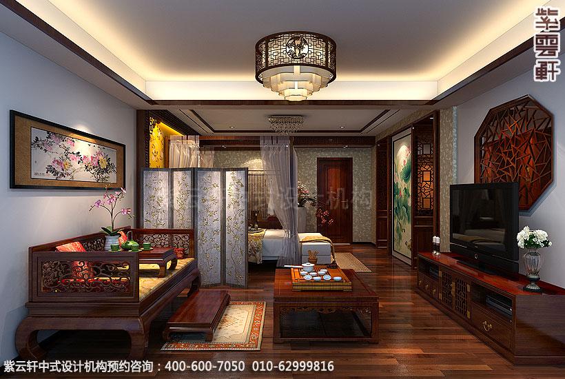 精品住宅-北京方庄复式楼-主卧室中式装修效果图