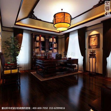 精品住宅-北京方庄复式楼-书房中式装修效果图
