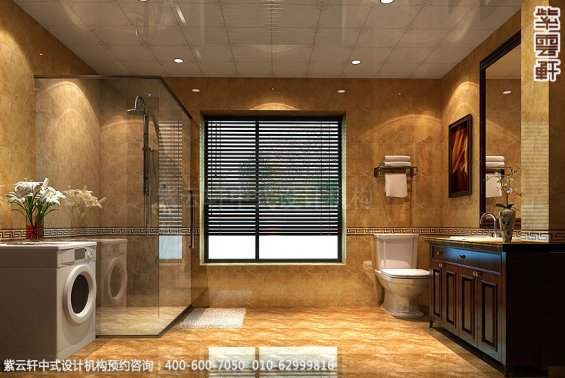 精品住宅-北京方庄复式楼-卫生间中式装修效果图