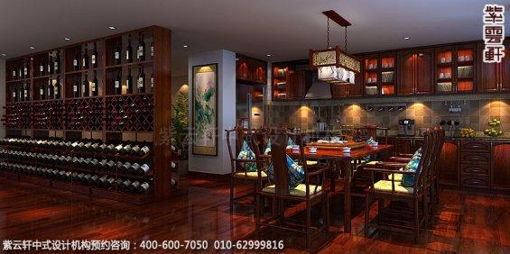 精品住宅-北京西山大宅设计-餐厅中式装修效果图