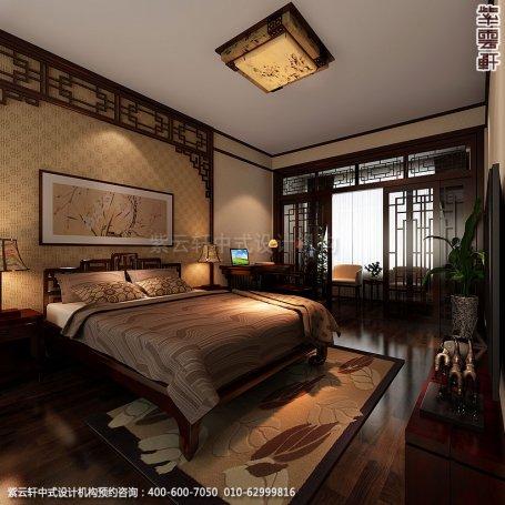 精品住宅-北京西山大宅设计-男孩房中式装修效果图