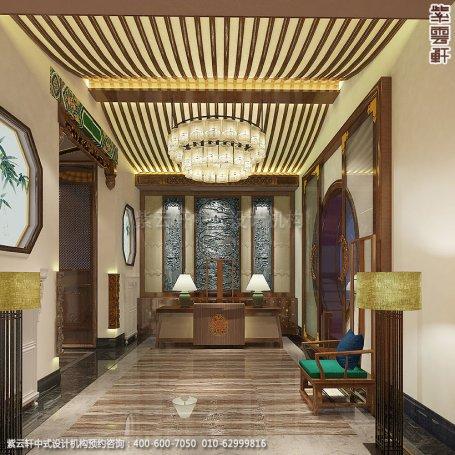 会所装修-上海中医养生会馆儒雅空间-大厅中式装修效果图
