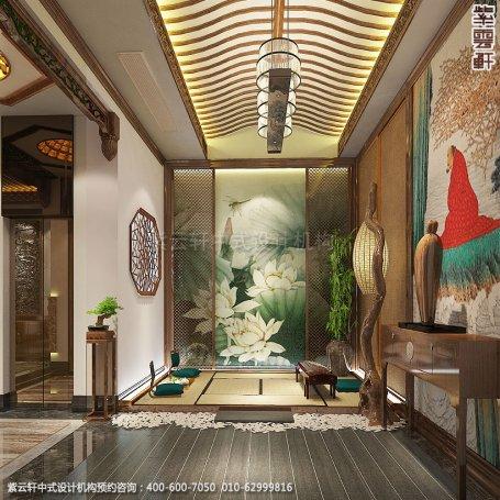 会所装修-上海中医养生会馆儒雅空间-休息室中式装修效果图