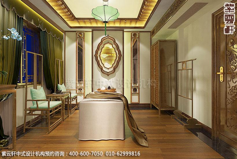 会所装修-上海中医养生会馆儒雅空间-vip疗养室中式装修效果图图片