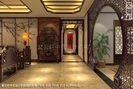 精品住宅,刘宅禅意空间设计,过道中式装修效果图
