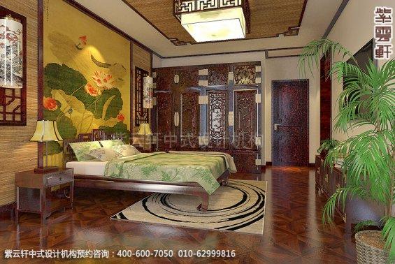 精品住宅,刘宅禅意空间设计,卧室中式装修效果图