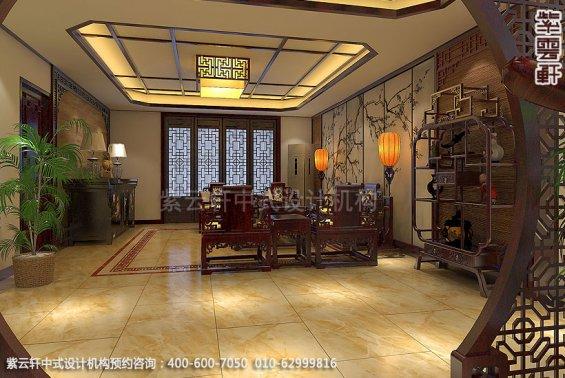 精品住宅,刘宅禅意空间设计,客厅中式装修效果图