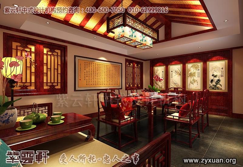 北京茶楼古典中式设计案例,茶园茶室中式装修效果图