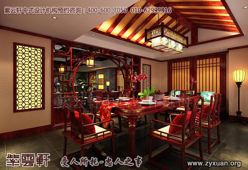 北京茶楼古典中式设计案例,茶室中式装修效果图