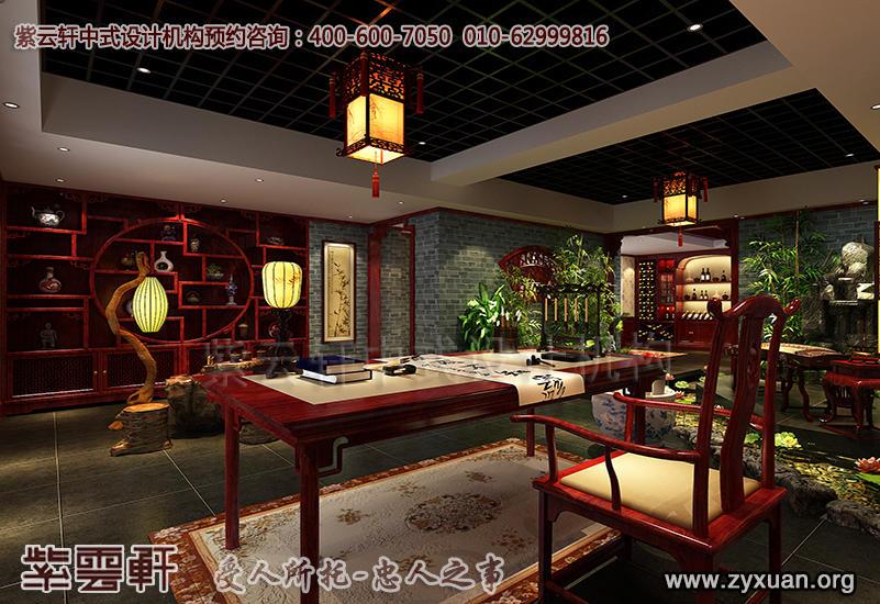 北京茶楼古典中式设计案例,茶园中式装修效果图