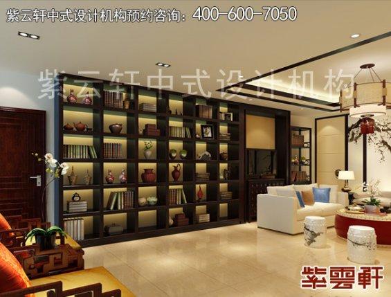 保定新中式风格设计复式住宅,会客区中式装修效果图