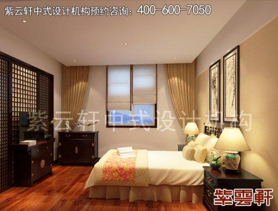保定新中式风格设计复式住宅,客卧中式装修效果图
