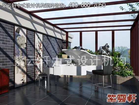 鄂尔多斯复式楼古典中式装修案例,阳光房中式装修效果图