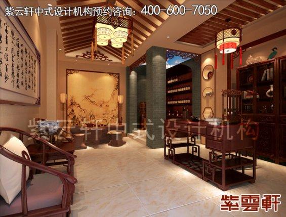 郑州复式楼简约中式装修案例,书房中式设计效果图