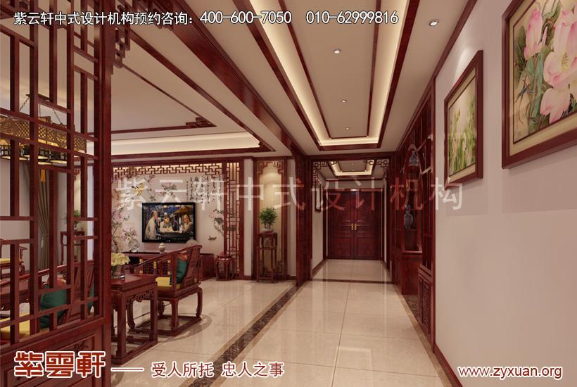 山西晋城现代中式风格别墅案例赏析,过道中式设计效果图