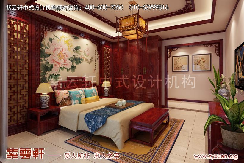 山西晋城现代中式风格别墅案例赏析,主卧中式装修效果图