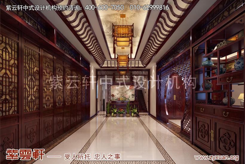 赤峰古典中式豪宅设计案例赏析,门厅中式设计图