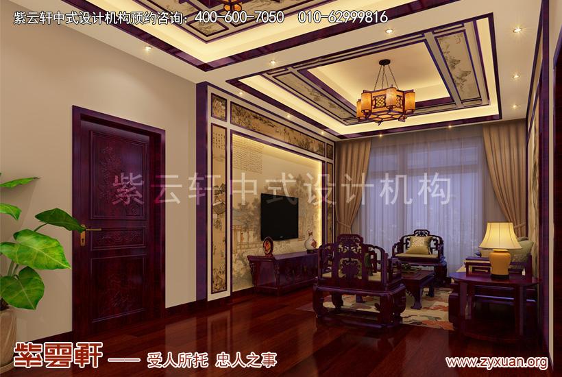 赤峰古典中式豪宅设计案例赏析,二层起居室中式装修图