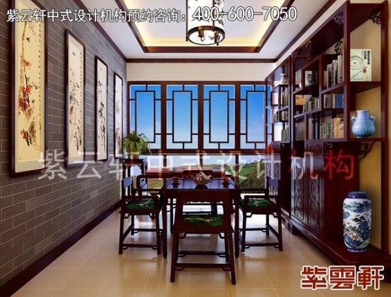 昆山精品住宅古典中式装修案例,书房中式装修效果图