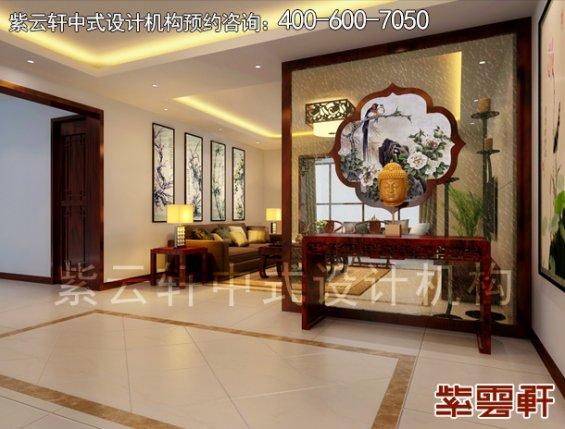 哈尔滨精品住宅现代中式设计案例,客厅中式装修效果图