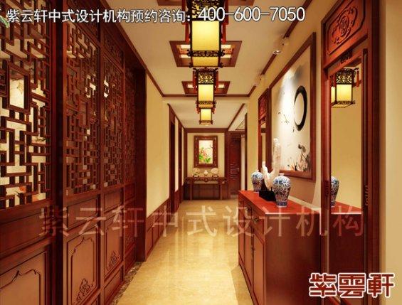 吉林长春精品住宅中式装修设计案例,玄关中式装修效果图