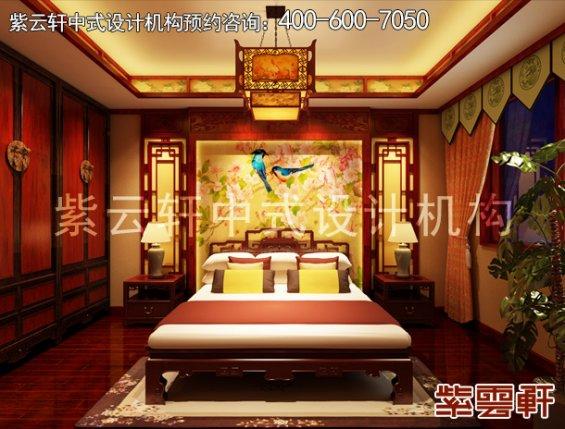 吉林长春精品住宅中式装修设计案例,卧室中式装修效果图