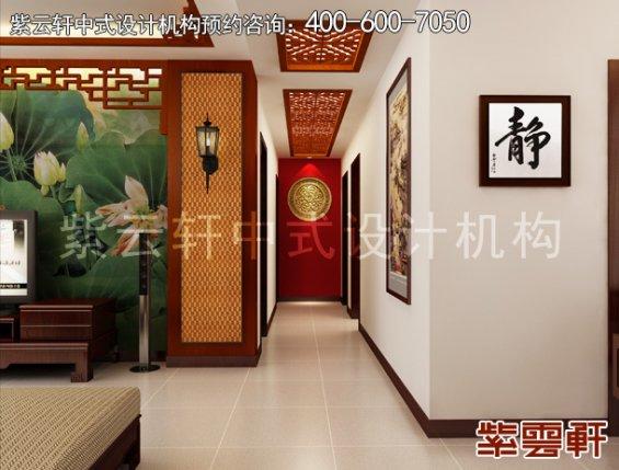 张先生精品住宅简约中式设计案例,过道中式装修效果图