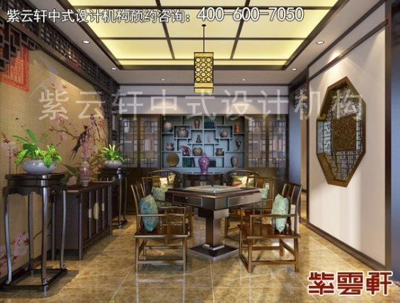 南京平层古典中式装修设计案例,休闲室中式装修效果图