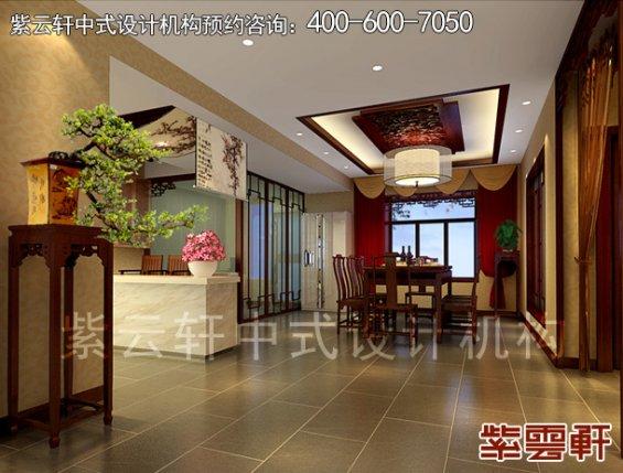 深圳平层住宅简约中式设计案例,餐厅中式装修效果图