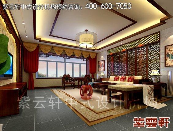 深圳平层住宅简约中式设计案例,卧室中式装修效果图