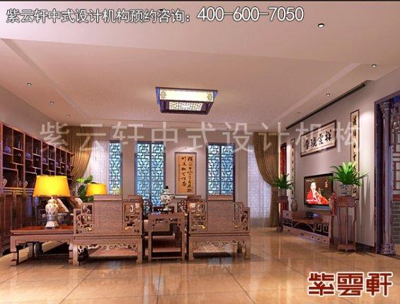 顺义平层住宅赵先生新中式装修案例,客厅中式装修效果图