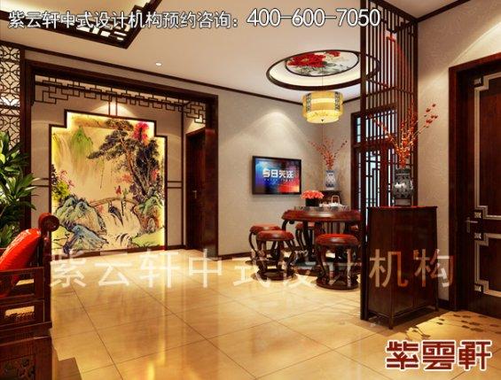 高阳晨哥平层住宅简约中式装修案例,餐厅中式装修效果图