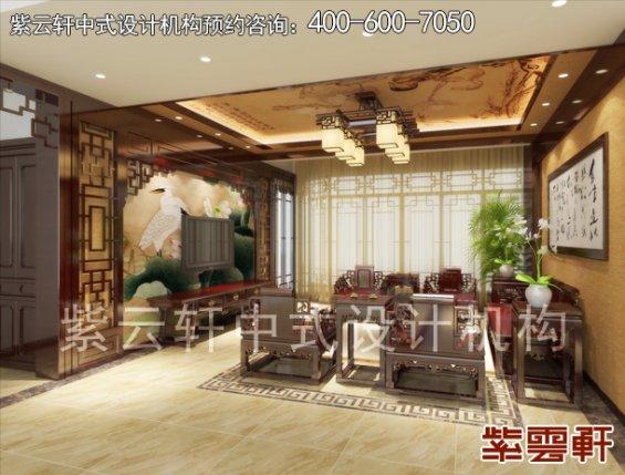 长沙王女士平层住宅现代中式装修案例,客厅中式装修效果图