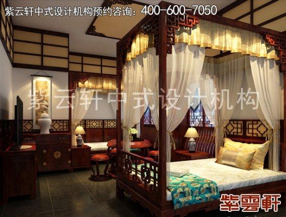 镇远福佳乐宾馆古典中式装修案例,卧室中式装修效果图
