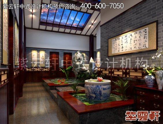 镇远福佳乐宾馆古典中式装修案例,过道中式装修效果图