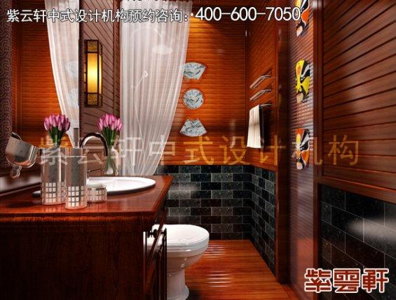 古典中式装修设计贵州镇远福源宾馆,卫生间中式装修效果图