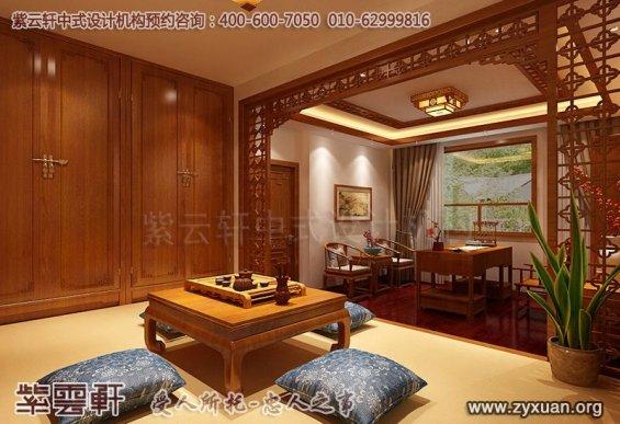 常州别墅古典中式装修案例,茶室中式装修效果图