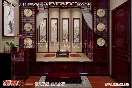 广东佛山别墅现代中式设计案例,休闲室中式装修效果图
