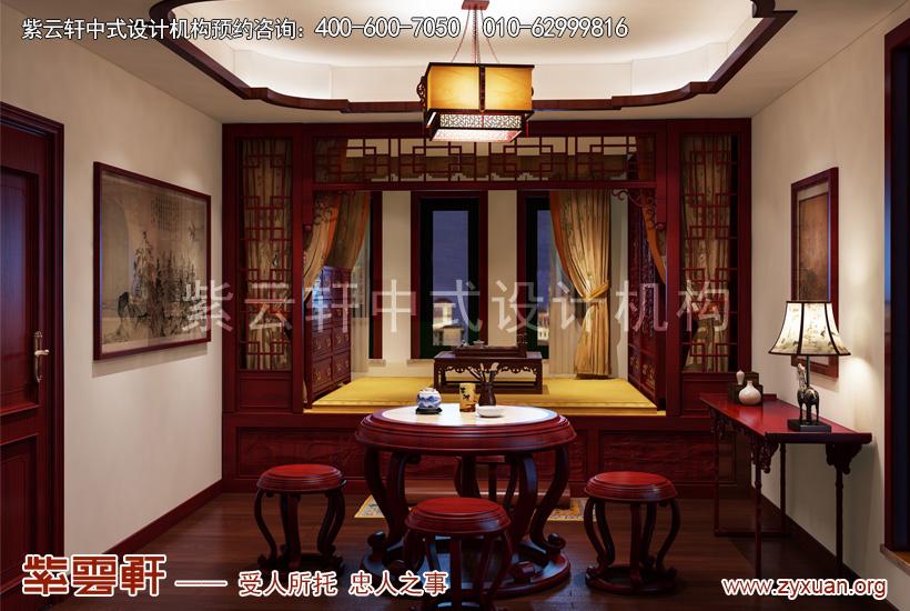 来源:紫云轩中式装修效果图 说明:老人房中式设计,红木家具缱绻岁月