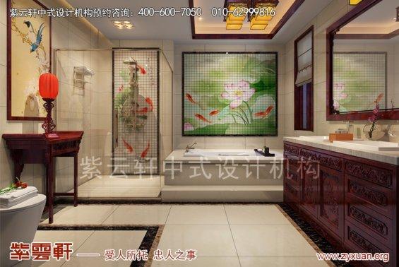 西安白桦林间刘姐复式古典中式设计案例,卫生间中式装修效果图